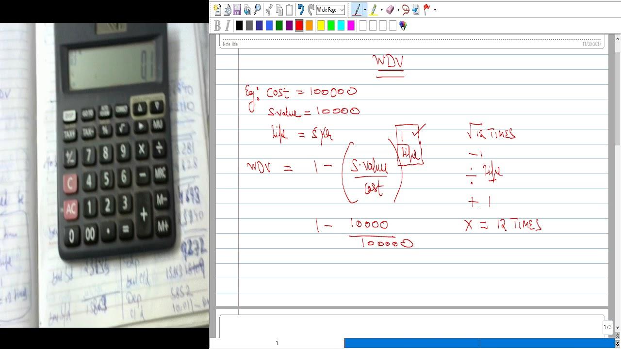 depreciation calculator tricks wdv method youtube