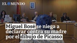 Miguel Bosé se niega a declarar contra su madre en el juicio sobre el dibujo de Picasso