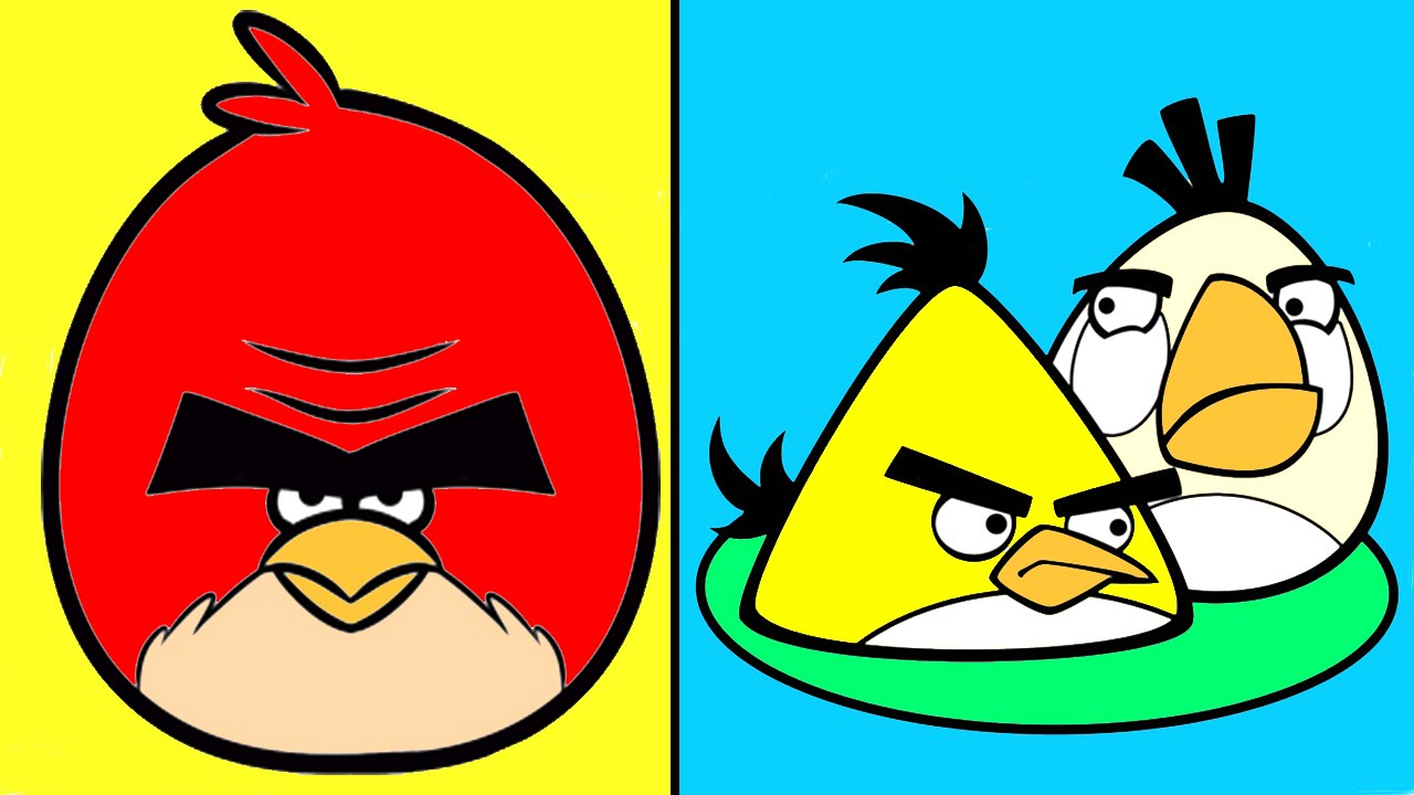 Coloring for children angry birds coloring mix for kids youtube