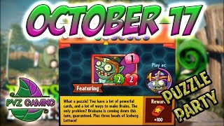 PvZ Heroes: Daily Challenge 10/17/2018 (October 17) – Puzzle Party [October 17th]
