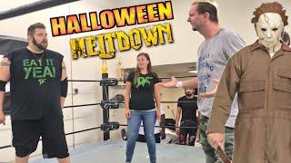 WWE star James Ellsworth vs Heel Wife vs Grim for Intergender Championship - Halloween Appears