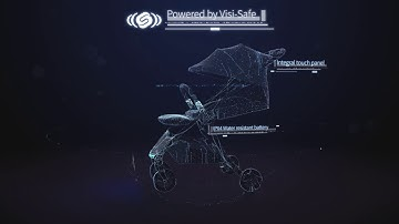 AuraStar 세계에서 가장 안전한 오토스탑 유모차