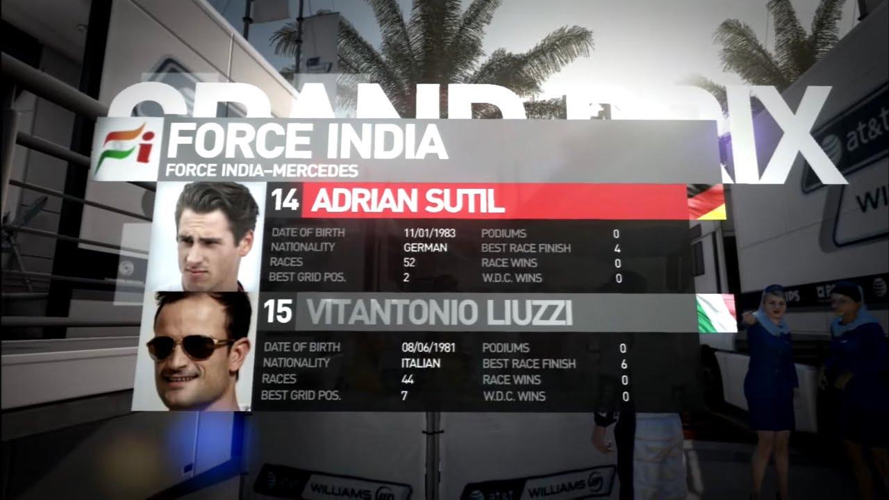 F1 2013 - Adrian Sutil (Force India) GP da Austrália 2013