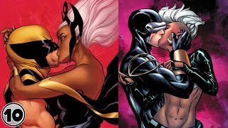 Top 10 Superheroes Storm Has Hooked Up With