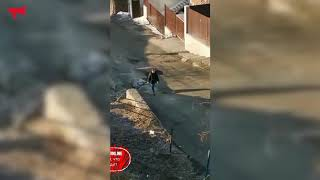 Жительница Владивостока решила сама заделать ямы на дороге