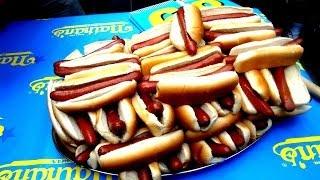 Matt Stonie eats 66 Hot Dogs