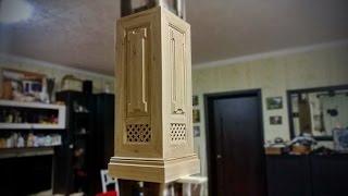 Деревянная колонна. Отделка интерьера деревом. Часть 3