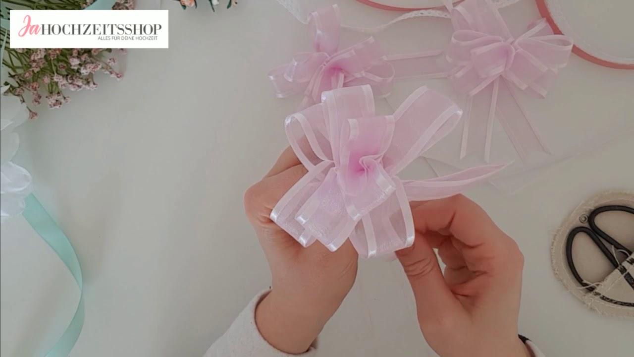 Ja Hochzeitsshop Autoschleifen Zur Hochzeit Youtube