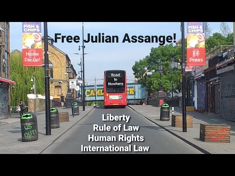 Free Julian Assange! Liberty Rule of Law Human Rights International Law!