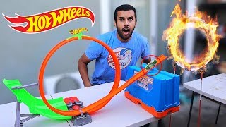 insane-hot-wheels-stunt-trickshots-ring-of-fire-challenge