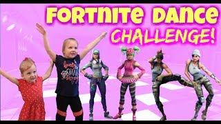 SISTERS FORTNITE DANCE CHALLENGE IN REAL LIFE!