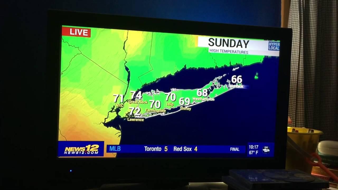 News 12 Long Island Meteorologist Norm Dvoskin Last Weather Forecast