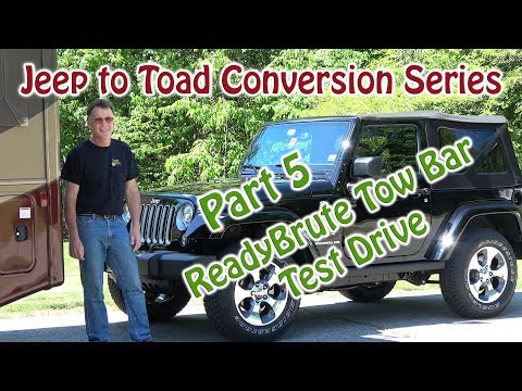 jeep to rv toad  dinghy  conversion readybrute tow bar
