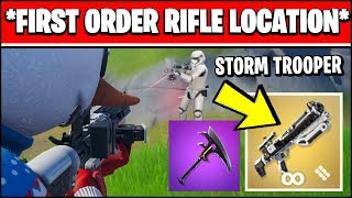 DEAL DAMAGE WITH A FIRST ORDER BLASTER RIFLE, STORMTROOPER ELIMINATIONS & LIGHTSABER LOCATION