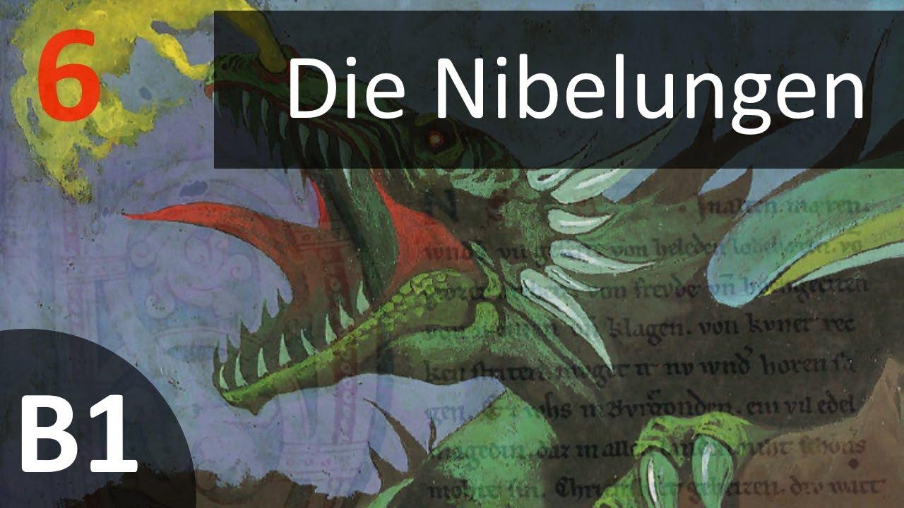 Учить немецкий по аудиокниге (B1) - Die Nibelungen - Kapitel 6 - Kampf mit Brünhild