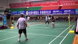 湖北十堰2011年全国中老年羽毛球赛-女双160岁组冠亚军决赛