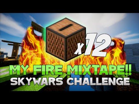 THE FIRE MIXTAPE CHALLENGE! ( Hypixel Skywars )
