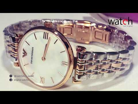 Emporio Armani Classic Mother Of Pearl Dial Ladies Watch AR1683
