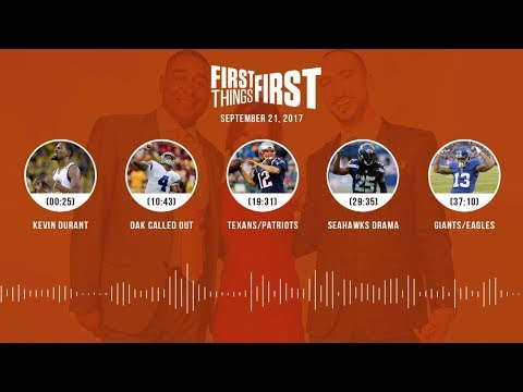 First Things First audio podcast (9.21.17)Cris Carter, Nick Wright, Jenna Wolfe | FIRST THINGS FIRST