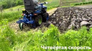 Минитрактор 4х4, плуги Одесса6, D6R, ПЦ-1-18, - испытание / plowing tractor(Как самому сделать полноприводный мини трактор. Об этом здесь., 2014-06-03T21:58:58.000Z)