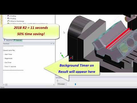 Profiling performance improvement | Edgecam 2018 R2
