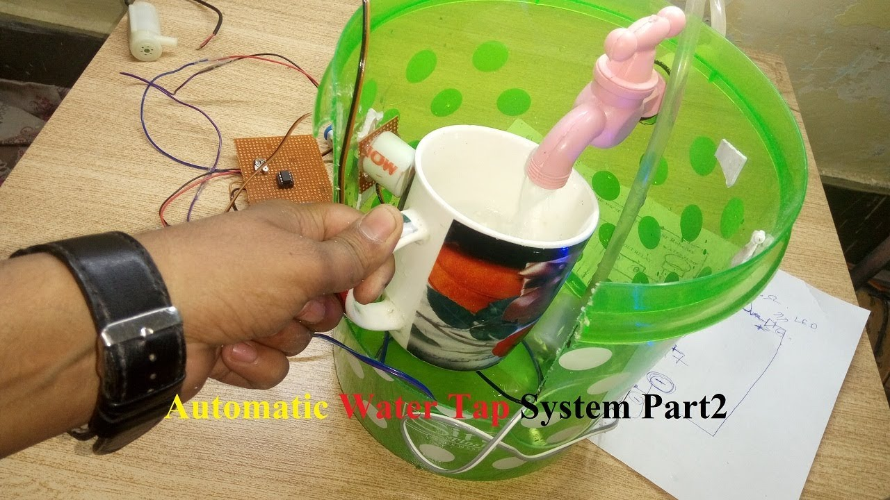 Hindi How To Make Automatic Water Tap System Best Or Unique 100 Emergency Light Circuit Working Part 2