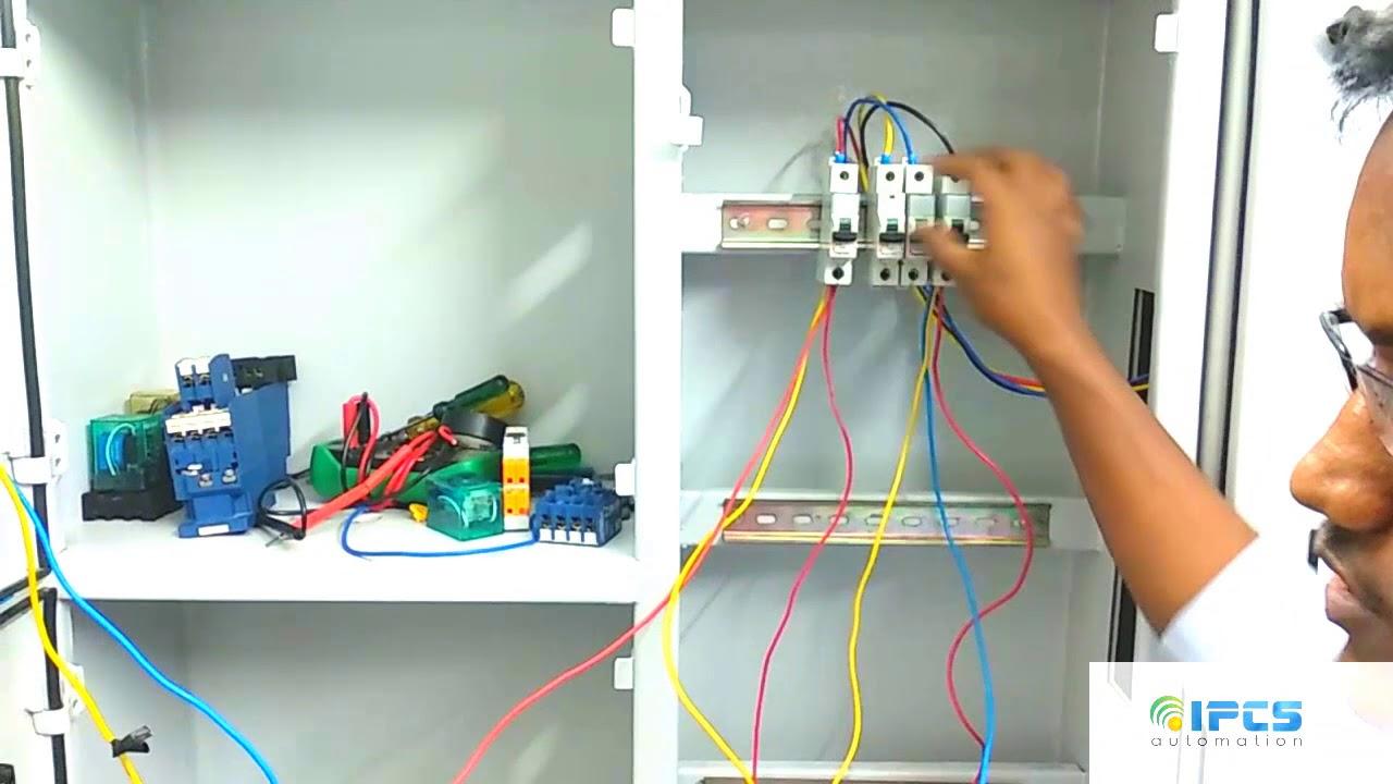 hight resolution of delayed start dol starter for motors using selec 800 sq timer