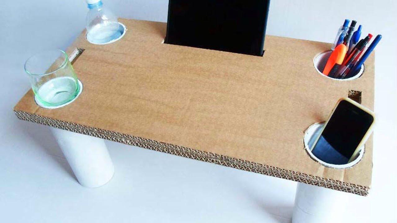 Crea un tavolino da letto multiuso di cartone fai da te - Tavolino per salotto fai da te ...