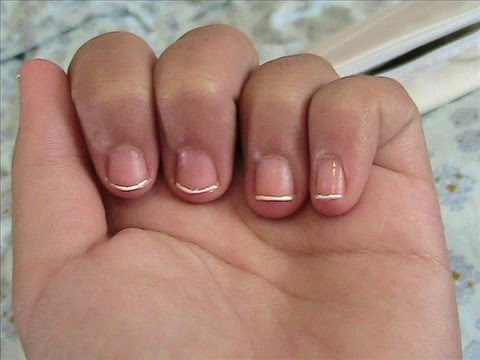 French Tip Manicure For Very Short Nails