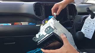 ソリオMA36Sオーディオパネルの脱着と走行中テレビが見れる配線方法