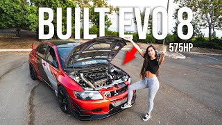 GIRLFRIEND LEARNS HOW TO DRIVE STICK SHIFT IN MY 575HP BUILT EVO 8