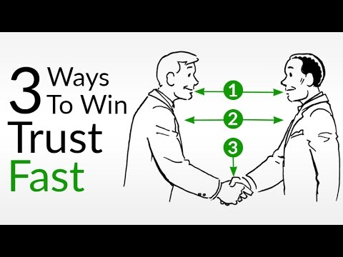 3 Ways To Win Trust FAST | How To INSTANTLY Be More Trustworthy Using Body Language