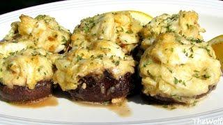 Crab Stuffed Mushrooms - NO BREADING OR FILLER (Low Carb Recipe)
