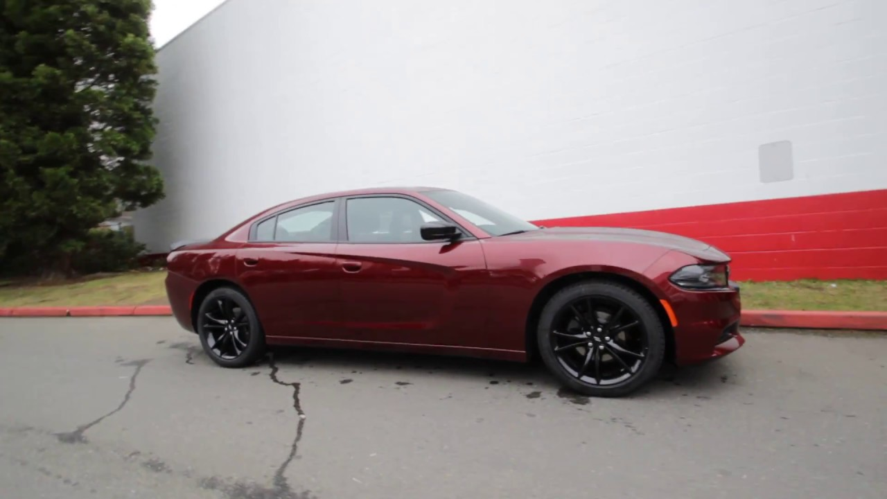 2017 Dodge Charger Sxt Octane Red Pearl Coat Hh537494