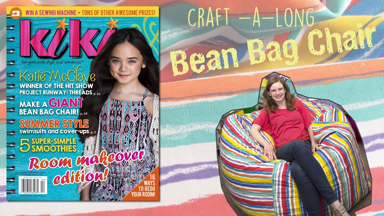 DIY Large Bean Bag Chair Presented By Kiki Magazine