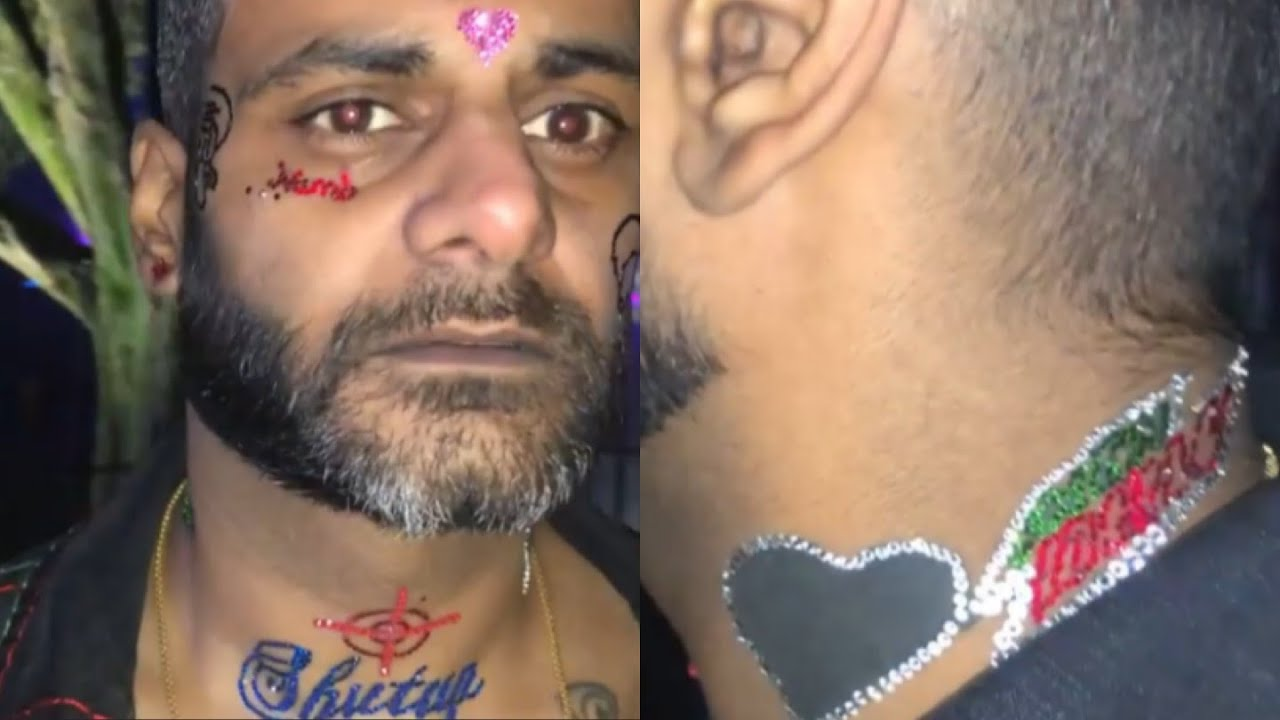 FGNF NITIN Bedazzles Face Tattoos In Swarovski Crystals
