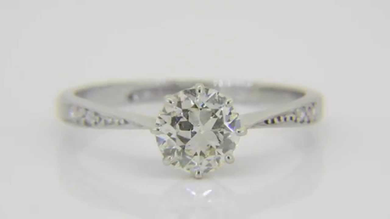 Buy This 1930s Platinum & Diamond Solitaire Engagement Ring  Jethromarles