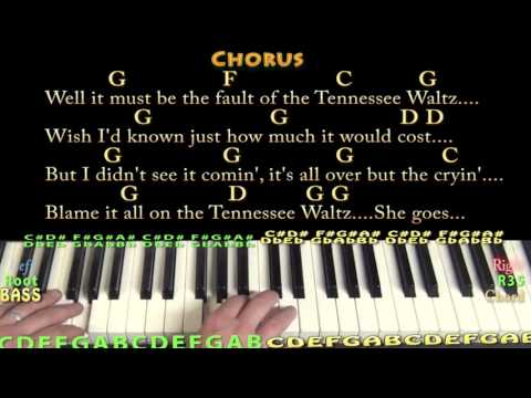 Tennessee Waltz - Piano Cover Lesson in G with Chords/Lyrics - G C D F