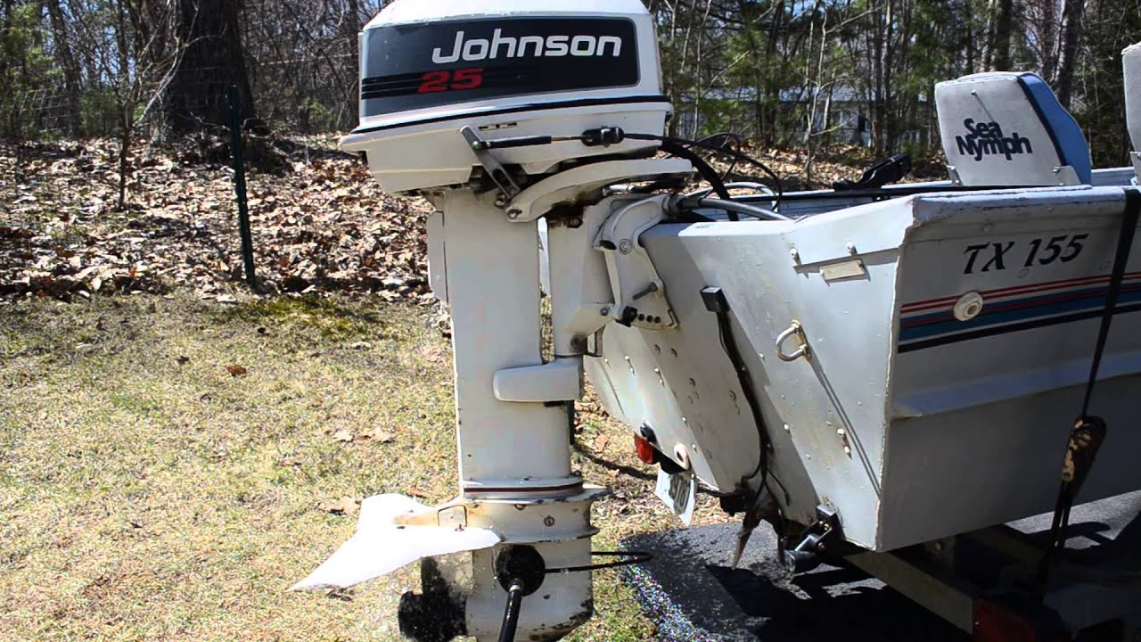 1992 johnson 25hp electric start outboard boat motor doovi for Johnson marine italia