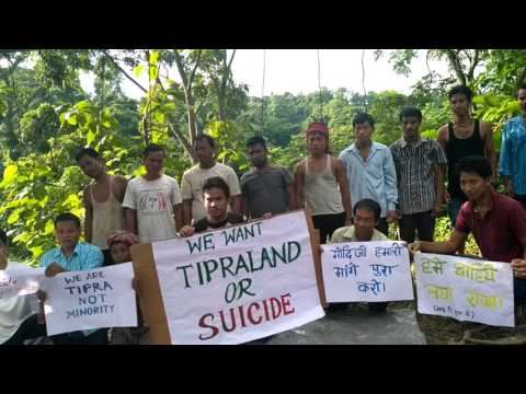 Indigenous People Sixth day road blockade Tripura land or suicide