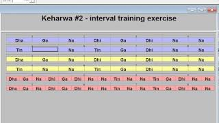 Keherwa # 2 -   Interval tabla exercise - loop sequence of normal speed and double speed