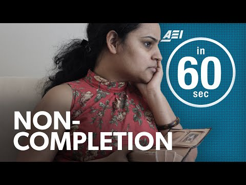 Non-completion: The biggest crisis in higher education | IN 60 SECONDS