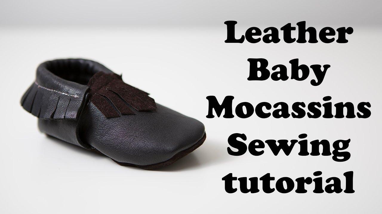 ffb15b9b118a8 Leather Baby Mocassins tutorial & free pattern
