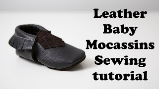 Leather Baby Mocassins tutorial & free pattern