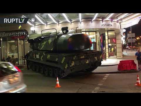 Oops! Ukrainian Buk missile system runs into Kiev business center (STILLS)
