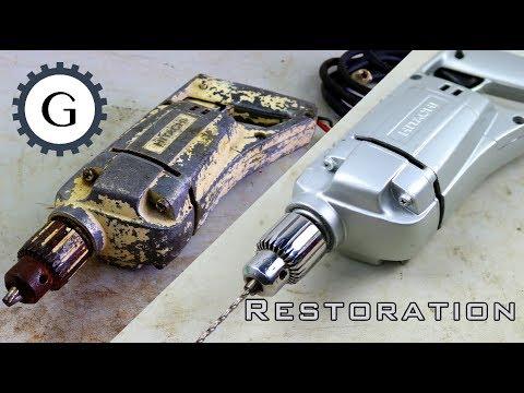 Electric Drill Restoration   Very Old Hitachi Drill Restoration