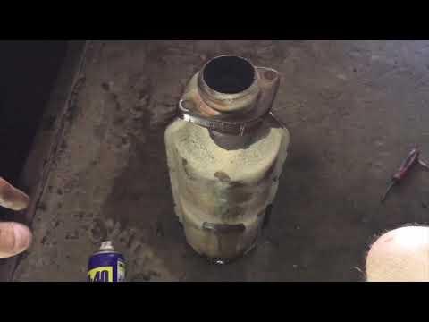 Ваз 2110-12 удаление катализатора.