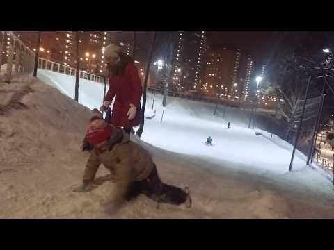 Горка на набережной. Московские Водники