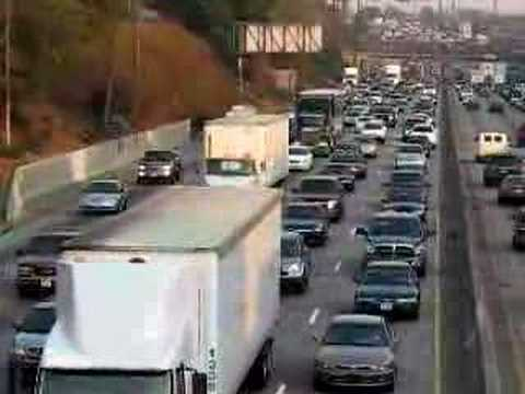 RUSH HOUR / TRAFFIC JAM - SANTA ANA FREEWAY