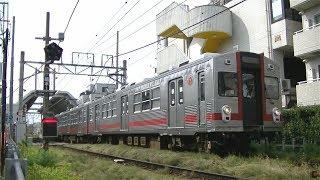 東急多摩川線多摩川行き7700系7912F 鵜の木駅発車